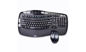 Logitech MK570 Wireless Keyboard and Mouse Set: (Refurbished)