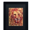 Lowell S.V. Devin 'Leo the Lion' Matted Black Framed Art