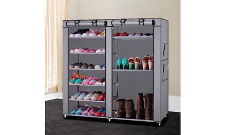 6-Row 12 Lattices Non-woven Fabric Shoe Rack Shoe Storage Organizer Multiple Was: $39.98 Now: $11.99.