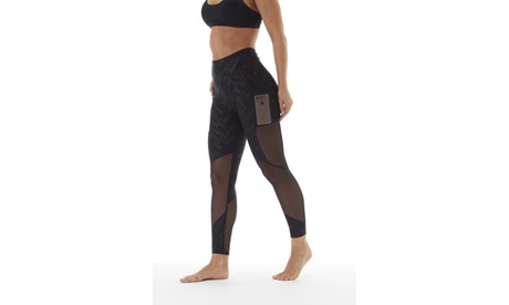 Bally Fitness High Waist Power Tek Leggings with Pocket c7daf45f-eeb6-4ce9-b29a-d51e26fc3392