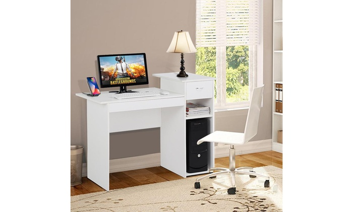Super Up To 31 Off On Black Whitecomputer Desk Tabl Groupon Creativecarmelina Interior Chair Design Creativecarmelinacom