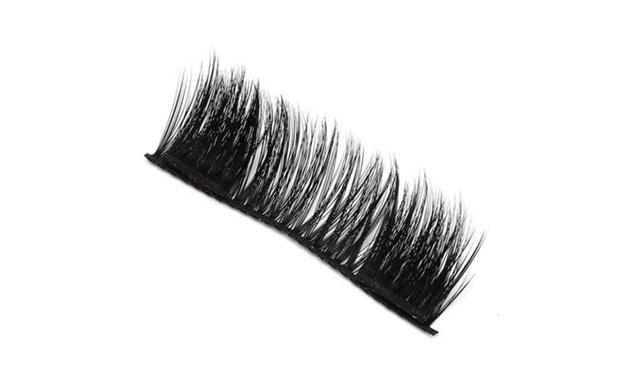 9e319446b75 3D Mink Magnetic Eyelashes Handmade Reusable Eyelashes USA | Groupon