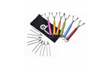 6 Sets Marshmallow Telescoping Roasting Sticks Alternative Fork Heads 419079be-80ec-477e-ac7e-c607a4a3767b