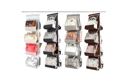Hanging Purse & Handbag Organizer: 8 Easy Access Pockets