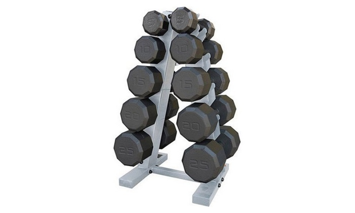 8e2881eb9fe 150-Pound Eco Dumbbell Weight Set with Rack