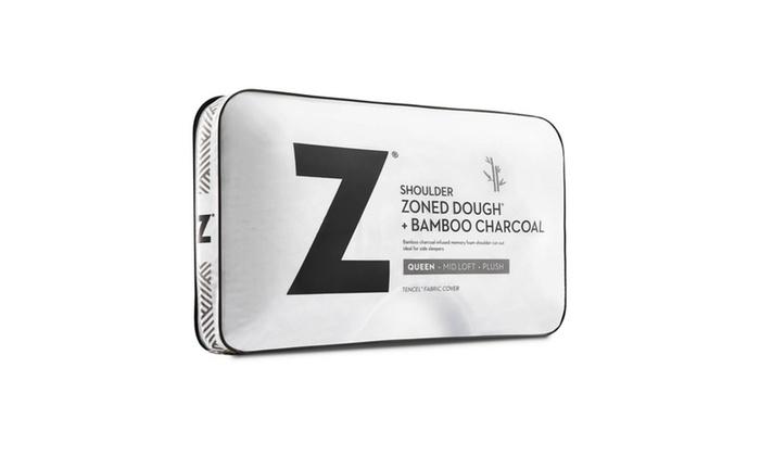 Z Shoulder Zoned Dough Memory Foam Pillow With Bamboo