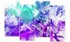 Hues of Blue Flower Art - Floral Metal Wall Art