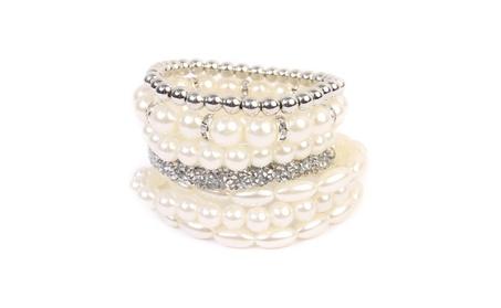 Elegant Beaded Stretch Bracelet 5c28f04b-bd79-4ea1-8939-d0eb6efc4f67
