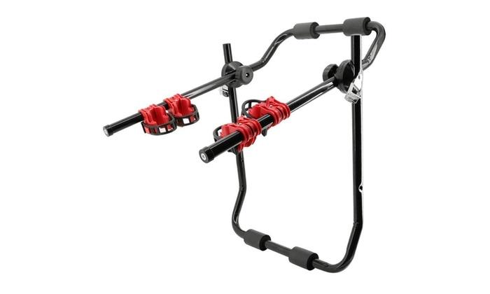 Trunk-Mount 3-Bike Carrier Hatchback SUV Car Bicycle Rack 60kg Transport Steel