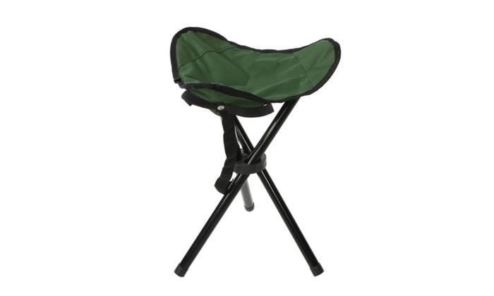 Travel Chair Slacker Green Portable Fishing Folding Tripod Stool