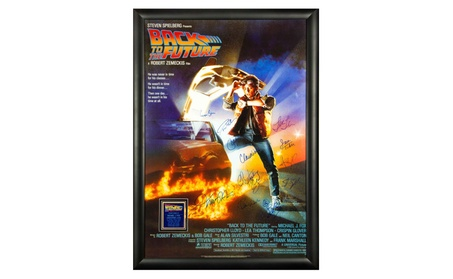 Back to the Future Autographed Signed Movie Poster Wood Framed d58e81a7-c66f-4a8b-b766-d3fcae0b0a9f