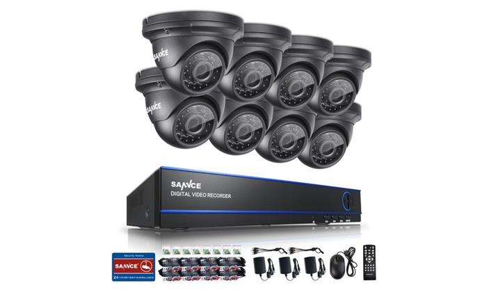 SANNCE 8CH CCTV System NVR 2.0MP Surveillance Security Camera System