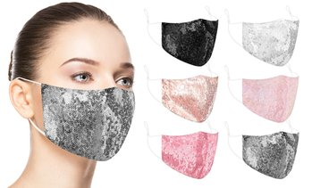 6 Pack : Glittering Sequins Bling Face Masks