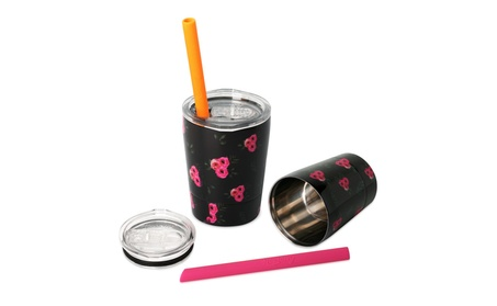 Housavvy Stainless Steel Kids Sippy Cup with Lids and Straw Set of 2 1d2ff41f-6dee-4b03-b51b-2bcbc295f260