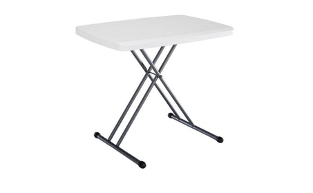 Folding Personal Table, 30 by 20 Inch, White 4d193a06-f31b-4b33-8370-f15b1b156b77