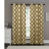 """Printed Metallic Damask Window Panel Pair with Grommets (84"""" or 96"""")"""