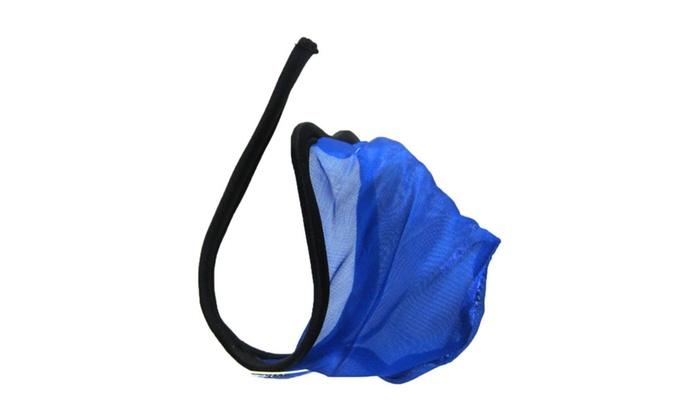 Men's Excellent Quality Underwear See Through C String Blue One Size