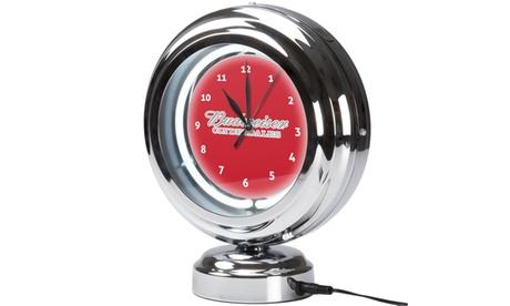 Budweiser Chrome Retro Style Tabletop Neon Clock - Clydesdale e0674a35-4c5d-4f60-9460-c9a3941dde82