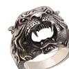Retro Rock Punk Big Tiger Stainless Steel Ring for Men