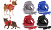 No-Pull Hand Strap Dog Cat Vest With Dog Leash Pet Collar Adjustable Harness