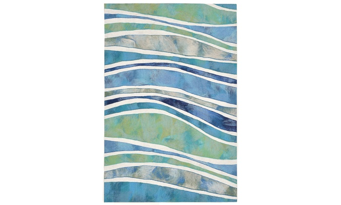 Liora Manne Visions Iii Wave Indoor Outdoor Rug Ocean Groupon