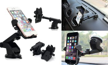 Car Windshield Dash Mount, 360 Degree Universal Cell Phone Car Holder Cradle