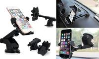 Car Windshield Dash Mount, 360 Degree Universal Cell Phone Car Holder Cradle