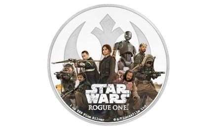 2017 Star Wars Rogue One Rebellion 1oz. Silver Colorized 2-Dollar GEM Proof Coin