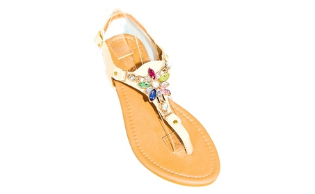 Women's Flower Accent Sandals a2f859c3-e628-44f3-aaf3-6f6fb65fe0bd