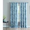 An Damask 84-inch Window Curtain with Rod Pocket