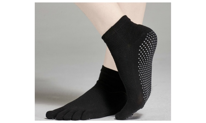 Girl Cotton Sports Yoga Five Toes Socks