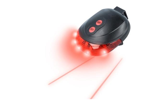 5 LED + 2 Laser Bike Bicycle Light Rear Tail Flashing Safety Lamp