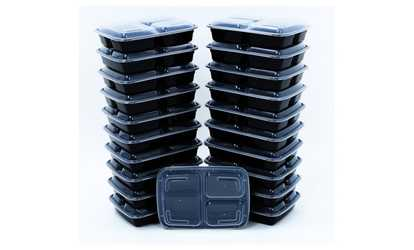 Shop Groupon 14 Piece 3 Compartment Reusable Food Storage Containers Meal Prep  sc 1 st  Groupon & Food Storage - Deals u0026 Coupons | Groupon