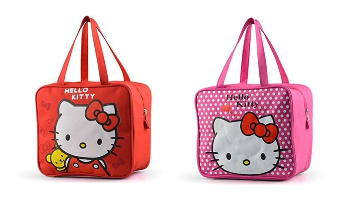 Hello Kitty Super Cute Lunch Tote Bags - 2 Color Options