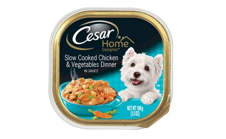 Cesar Home Delights Slow Cooked Chicken & Vegetables 3.5 Oz efc6f95a-2d48-476c-bf02-b8f8a0b95abc