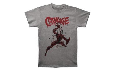 Marvel Men's Carnage Action Pose Slim Tri-Blend T Shirt 4a53baad-ae5c-4303-a9d5-d77eff2d703e