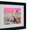 Pat Saunders-White 'Catatonic' Matted Black Framed Art