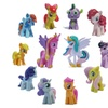 12Pcs Set Little Pony funny Cake Toppers Doll Lot Princess Action Toy