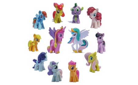 12Pcs Set Little Pony funny Cake Toppers Doll Lot Princess Action Toy 813300f0-a352-40f9-b16e-f5004c3c9b57