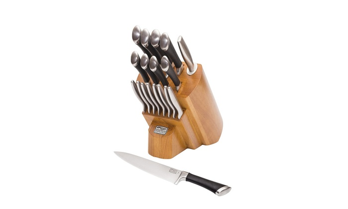 Chicago Cutlery Fusion Forged 18 Piece Knife Block Set,Stainless Steel ...