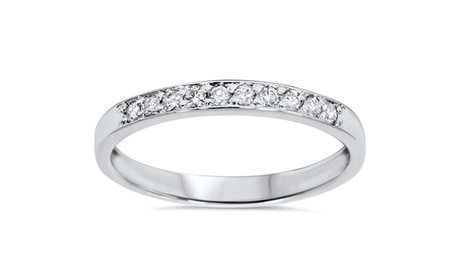 1/4 CT Round Diamond Stackable Wedding Ring 14K White Gold c49ecf1a-8573-43fa-ac6a-d158c018a7d5