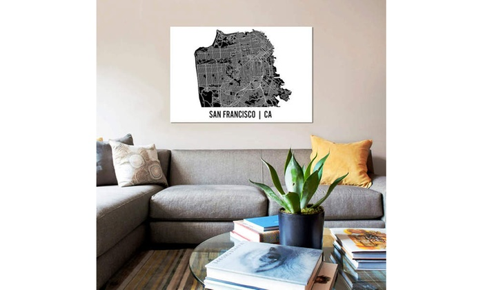 Mr  City Printing Canvas Print with State Map   Groupon