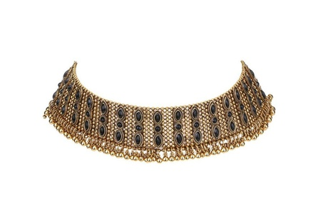 Alloy Crystal Rhinestone Golden Chain Necklace 0d0571be-cdec-4aac-b3e7-88ec6faf1aee