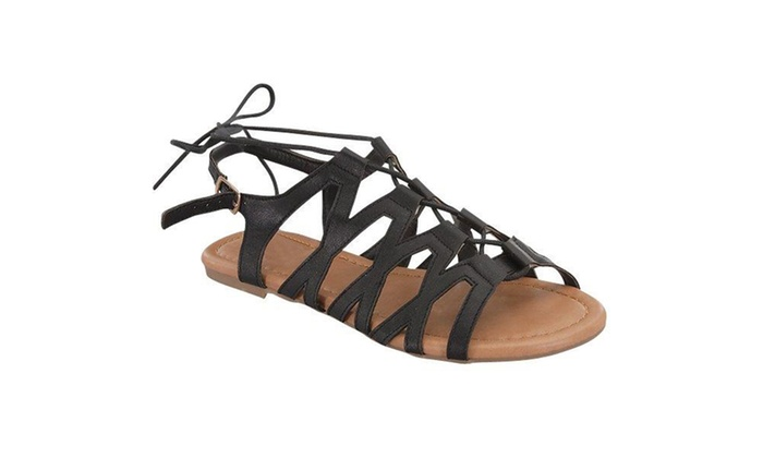 Womens Lace Up Gladiator Strappy Sandals SH0025