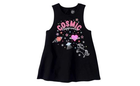 Kids Girls Stylish Graphic Print Swing Shape Tank Top-3300TCGT db2dcfd5-3899-4cec-8ecd-7688e73c9ef2