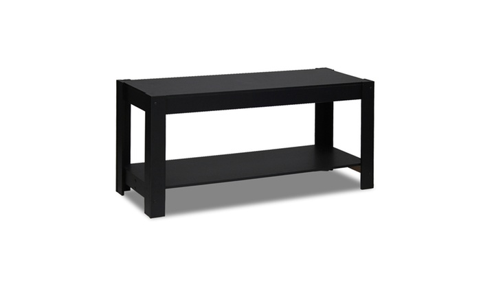 Furinno 12125bk Parsons Entertainment Center Tv Stand Coffee Table Black