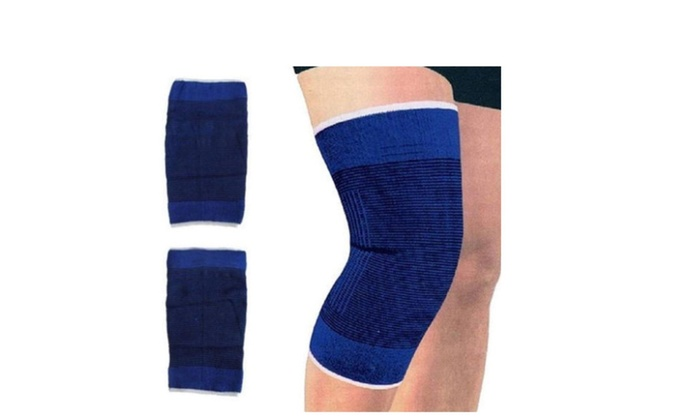 Blue Stretch Knee Support Compression Sleeve - 4pcs