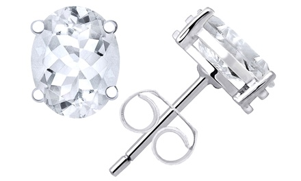 kitchen sinks faucets orchid jewelry 925 silver 2 80 carat oval white topaz stud 13794