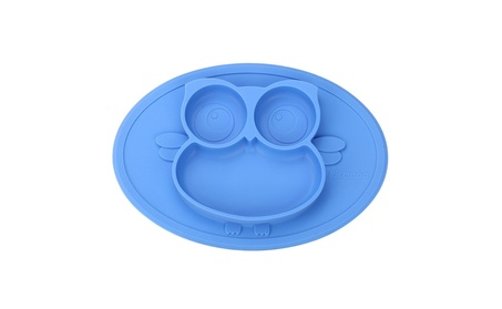 Kirecoo Babies Highchair Feeding Tray Round Silicone Suction Owl 86506277-c5cc-48c1-940e-b29334708709