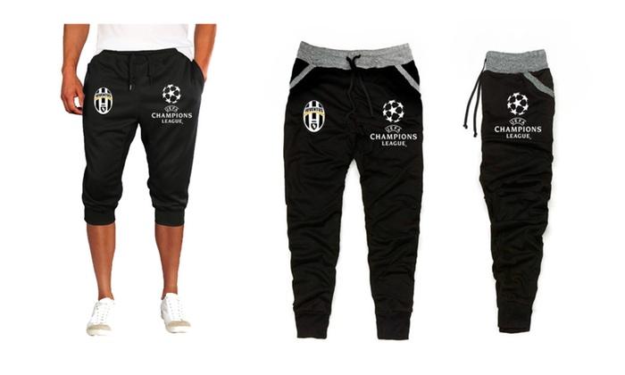 Juventus champions league Capri 3/4 training sweats pants Or Black jog